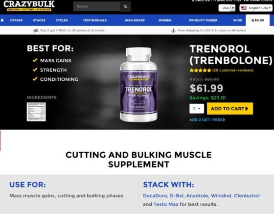 Review of Trenorol (Trenbolone alternative) from CrazyBulk