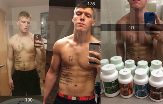 William's amazing shedded body after using CrazyBulk's cutting stack