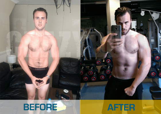 CrazyBulk Bulking Stack - before and after using it