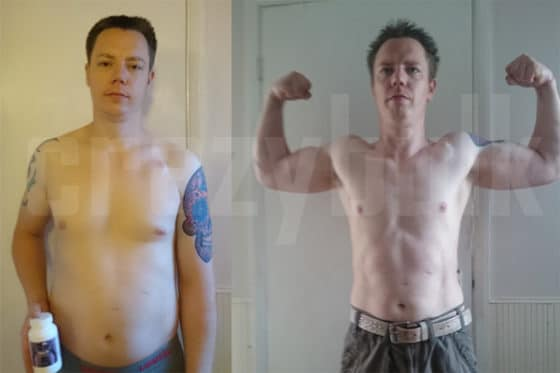 CrazyBulk's Cutting Stack before and after