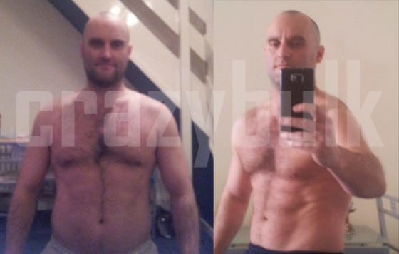 Ian's results using CrazyBulk's legal steroids