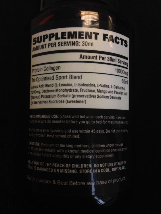 YouTonics Sport Ingredients